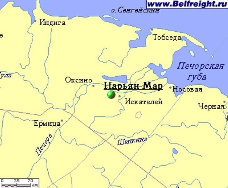 Нарьян-маре где находится